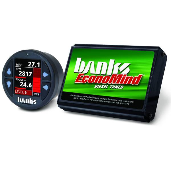 Banks Power - Banks Power Economind Diesel Tuner (PowerPack calibration) with Banks iDash 1.8 Super Gauge for use with 2006-2007 Chevy 6.6L, LLY-LBZ 61413