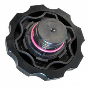 Engine Parts - Oil System - Fleece Performance - Fleece Performance Cummins Billet Oil Cap Cover Black Fleece Performance FPE-OC-CR-F