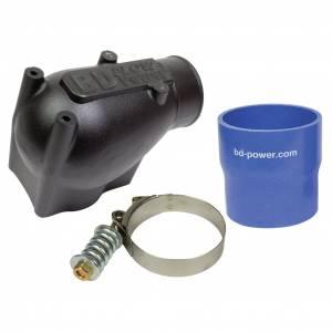 Engine Parts - Intake Manifolds & Parts - BD Diesel - BD Diesel X-Flow Power Intake Elbow (Black) - Ford 2003-2004 6.0L 1041570