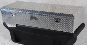 Bed Accessories - Transfer Tanks & Tool Boxes - Titan Fuel Tanks - Titan Fuel Tanks BRIGHT ALUMINUM Toolbox for 5410060/5310060 Tank 9991150