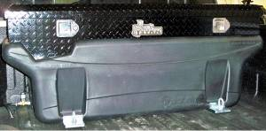 Titan Fuel Tanks - Titan Fuel Tanks In-Bed Tank BLK Toolbox for 5410060/5310060 Tank 9901180