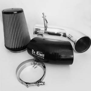 Air Intakes & Accessories - Air Intakes - No Limit Fabrication - No Limit Fabrication 6.7 Cold Air Intake Polished Dry Filter 2017-Present No Limit Fabrication 67CAIPD17