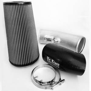 Air Intakes & Accessories - Air Intakes - No Limit Fabrication - No Limit Fabrication 6.7 Cold Air Intake 11-16 Ford Super Duty Power Stroke Raw Dry Filter Stage 1 No Limit Fabrication 67CAIRD1