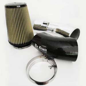 Air Intakes & Accessories - Air Intakes - No Limit Fabrication - No Limit Fabrication 6.7 Cold Air Intake 11-16 Ford Super Duty Power Stroke Polished PG7 Filter Stage 1 No Limit Fabrication 67CAIPP1
