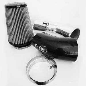 No Limit Fabrication - No Limit Fabrication 6.7 Cold Air Intake 11-16 Ford Super Duty Power Stroke Polished Dry Filter Stage 1 No Limit Fabrication 67CAIPD1