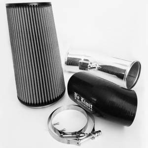 No Limit Fabrication - No Limit Fabrication 6.7 Cold Air Intake 11-16 Ford Super Duty Power Stroke Polished Dry Filter Stage 2 No Limit Fabrication 67CAIPD
