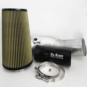 Air Intakes & Accessories - Air Intakes - No Limit Fabrication - No Limit Fabrication 6.0 Cold Air Intake 03-07 Ford Super Duty Power Stroke Raw PG7 Filter No Limit Fabrication 60CAIRP