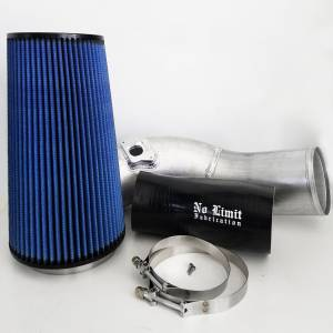No Limit Fabrication - No Limit Fabrication 6.0 Cold Air Intake 03-07 Ford Super Duty Power Stroke Raw Oiled Filter No Limit Fabrication 60CAIRO