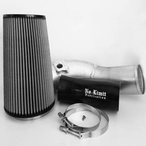 Air Intakes & Accessories - Air Intakes - No Limit Fabrication - No Limit Fabrication 6.0 Cold Air Intake 03-07 Ford Super Duty Power Stroke Raw Dry Filter No Limit Fabrication 60CAIRD