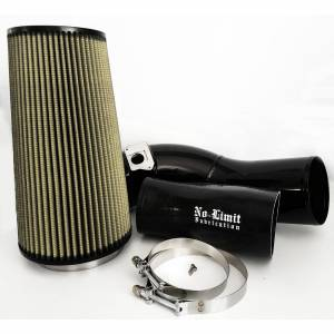 No Limit Fabrication - No Limit Fabrication 6.0 Cold Air Intake 03-07 Ford Super Duty Power Stroke Black PG7 Filter No Limit Fabrication 60CAIBP