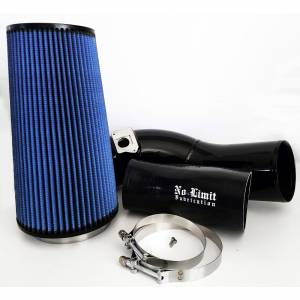 Air Intakes & Accessories - Air Intakes - No Limit Fabrication - No Limit Fabrication 6.0 Cold Air Intake 03-07 Ford Super Duty Power Stroke Black Oiled Filter No Limit Fabrication 60CAIBO