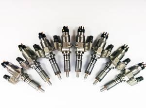 Fuel System & Components - Fuel Injectors & Parts - Dynomite Diesel - Dynomite Diesel Duramax 01-04 LB7 Reman Injector Set 100 Percent Over SAC Nozzle Dynomite Diesel DDP.LB7-200
