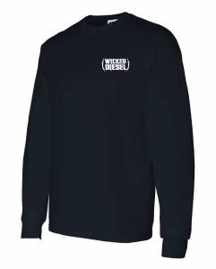 Wicked Apparel - Black Long Sleeve Wicked Diesel T-Shirt