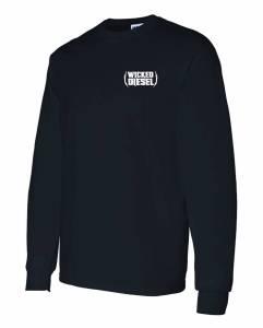 Black Long Sleeve Wicked Diesel T-Shirt