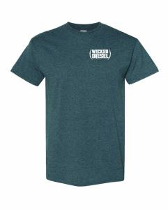 Wicked Apparel - Grey Short Sleeve Wicked Diesel T-Shirt