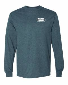 Wicked Apparel - Grey Long Sleeve Wicked Diesel T-Shirt