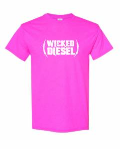 Wicked Apparel - Pink Short Sleeve Wicked Diesel T-Shirt