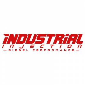 Shop By Part - Gear & Apparel - Industrial Injection - 20 Inch Red Industrial Injection Logo Decal