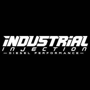 Industrial Injection - 11 Inch White Industrial Injection Logo Decal