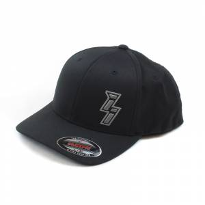 Shop By Part - Gear & Apparel - Industrial Injection - Black Flexfit ii Logo Hat L/XL