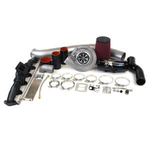 Turbo Chargers & Components - Turbo Charger Kits - Industrial Injection - 2010-2012 6.7L Dodge S300 SX-E 69/74 With .91 A/R Single Turbo Kit