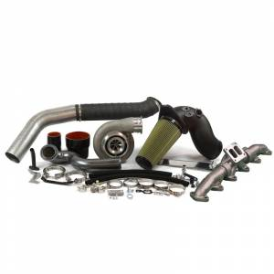 Turbo Chargers & Components - Turbo Charger Kits - Industrial Injection - 2010-2012 Dodge S467.7 With Race Cover 1.10 Turbine A/R Turbo Kit