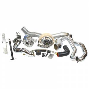 Turbo Chargers & Components - Turbo Charger Kits - Industrial Injection - LMM Duramax Race Compound Turbo Kit (2007.5-2010)