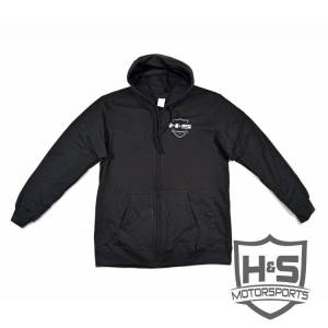 "Shop By Part - Gear & Apparel - H&S Motorsports - H & S Men's ""Retro"" Zip-Up Hoodie - Black - Size XL"