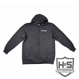 "Shop By Part - Gear & Apparel - H&S Motorsports - H & S Men's ""Retro"" Zip-Up Hoodie - Grey - Size XL"
