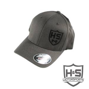 "Shop By Part - Gear & Apparel - H&S Motorsports - H & S FlexFit ""Shield"" Hat - Dark Grey - Size S-M"