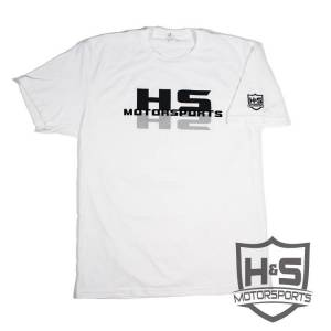 "Shop By Part - Gear & Apparel - H&S Motorsports - H & S ""Shadow"" T-Shirt - White - Size L"