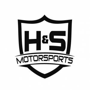"Shop By Part - Gear & Apparel - H&S Motorsports - H & S H&S Motorsports Logo Vinyl Decal -  Gloss Silver, 8"" TALL"