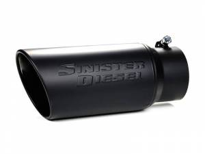 """Exhaust - Exhaust Tips - Sinister Diesel - Sinister Diesel Black Ceramic Coated Stainless Steel Exhaust Tip (4"""" to 6"""") SD-4-6-BLK"""