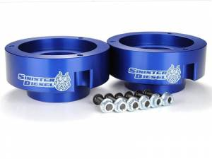 """Steering And Suspension - Lift & Leveling Kits - Sinister Diesel - Sinister Diesel 2"""" Leveling Kit for Dodge Cummins 1994-2012 Blue (4wd Only) SD-9409LVL-BLU"""