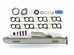 Exhaust - EGR Parts - Sinister Diesel - Sinister Diesel EGR Cooler w/ Install Kit for 2004-2007 Ford Powerstroke 6.0L SD-EGRC-6.0-04-IK