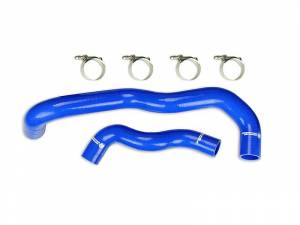 2003-2007 Ford 6.0L Powerstroke - Cooling System - Sinister Diesel - Sinister Diesel Radiator Hose Kit for 2005-2007 Ford 6.0L - 2WD Only (Blue) SD-HOSEKIT-FORD-05-2WD
