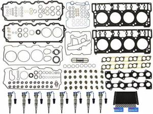 Fuel System & Components - Fuel Injectors & Parts - Sinister Diesel - Sinister Diesel Injector Package for 04.5-06 Ford 6.0L w/18mm Head Gaskets SD-INJPKG-6.0-18
