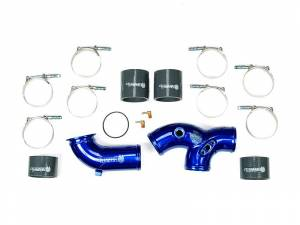 Turbo Chargers & Components - Intercoolers and Pipes - Sinister Diesel - Sinister Diesel Intake Elbow with Boots for 1999.5-2003 Ford Powerstroke 7.3L SD-INTEL-7.3-BK