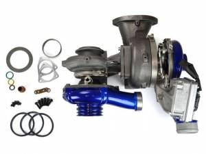 Turbo Chargers & Components - Turbo Chargers - Sinister Diesel - Sinister Diesel PITBULL SERIES Compound Turbochargers for 2008-2010 Ford Powerstroke 6.4L SD-PB-6.4-TURBO