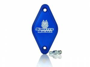 Exhaust - EGR Parts - Sinister Diesel - Sinister Diesel Intake Resonator Delete Plate for 2011-2016 GM Duramax 6.6L LML SD-RSNTRD-LML