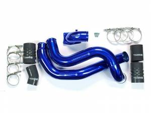 Turbo Chargers & Components - Intercoolers and Pipes - Sinister Diesel - Sinister Diesel Intercooler Pipe Kit w/ Intake Elbow for 03-07 Ford 6.0L Gray SDG-INTRPIPE-6.0-IE-KIT