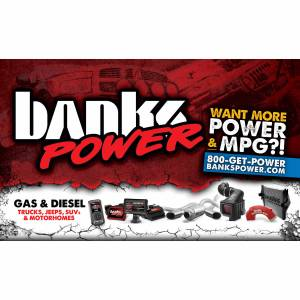 Shop By Part - Gear & Apparel - Banks Power - Banks Power Banner Logo/Website-36 Inch X 60 Inch 96096