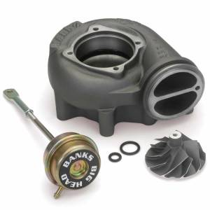 Turbo Chargers & Components - Turbo Charger Accessories - Banks Power - Banks Power Turbo Upgrade Kit 99.5-03 Ford 7.3L Big-Head Wastegate Compressor Wheel Quick Turbo 24458