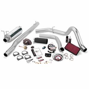 1999-2003 Ford 7.3L Powerstroke - Programmers & Tuners - Banks Power - Banks Power Stinger Plus Bundle Power System W/Single Exit Exhaust Black Tip 99.5 Ford 7.3L F250/F350 Automatic Transmission 47536-B