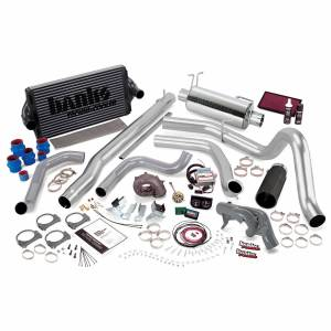 1999-2003 Ford 7.3L Powerstroke - Programmers & Tuners - Banks Power - Banks Power PowerPack Bundle Complete Power System W/Single Exit Exhaust Black Tip 99 Ford 7.3L F250/F350 Automatic Transmission 47526-B