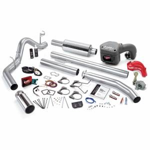 Banks Power PowerPack Bundle Complete Power System W/Single Exit Exhaust Chrome Tip 01 Dodge 5.9L Extended Cab 235hp 49393