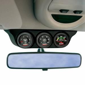 Gauges & Pods - Pods & Mounts - Banks Power - Banks Power Overhead Console Pod 3 Gauges 2003-2007 Dodge Ram 1999-2007 Ford Super Duty Black 63367