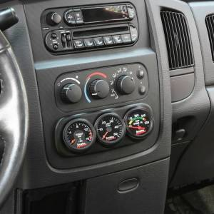 Gauges & Pods - Pods & Mounts - Banks Power - Banks Power Dash Mount Gauge Pod 3 Gauge 2003-2005 Dodge Ram Black 63319