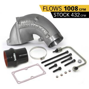 Engine Parts - Parts & Accessories - Banks Power - Banks Power Monster-Ram Intake Elbow Kit W/Fuel Line and Hump Hose 4 Inch Natural 07.5-18 Dodge/Ram 2500/3500 6.7L 42790