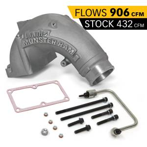 Engine Parts - Parts & Accessories - Banks Power - Banks Power Monster-Ram Intake Elbow Kit W/Fuel Line 3.5 Inch Natural 07.5-18 Dodge/Ram 2500/3500 6.7L 42788